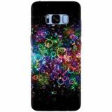 Husa silicon pentru Samsung S8, Rainbow Colored Soap Bubbles