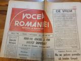 Ziarul vocea romaniei 3 decembrie 1993-anul 1,nr,1-i. luchian mihalea,n.vacaroiu