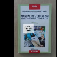 Manual de jurnalism vol 1 coordonator Mihai Coman