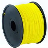 Fir de polietilena pentru imprimare 3D , Gembird , PLA , 1.75mm , 1kg , galben