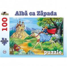 Puzzle 100 piese Alba ca Zapada Refresh