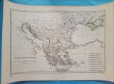 Harta a Turciei Europene, tiparita in 1787