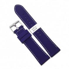 Curea pentru Ceas Morellato Carezza Silicone - Culoare Albastra, cusatura alba - 22mm - A01U3844187060CR