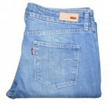 Blugi Dama Levis Jeans LEVI'S DEMI CURVE STRAIGHT - MARIME: 30 - (Talie 84 CM), Lungi, Albastru