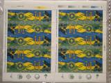 1997-Lp1442-Cercetasii Romaniei-2 coli cu tabs-uri diferite -MNH-RARE