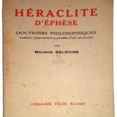 Doctrines philosophiques - Heraclite d'Ephese