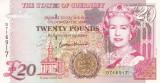 Bancnota Guernsey 20 Pounds 1996 UNC