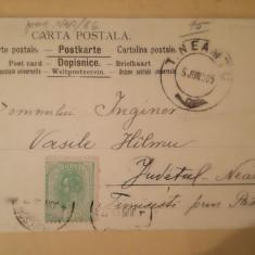 CP circulata 1905 Bucuresti - Tg. Neamt, Timisesti, catre ing. Vasile Hîlmu