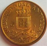 Moneda exotica 1 CENT - ANTILELE OLANDEZE (Caraibe), anul 1977 * cod 527, America Centrala si de Sud