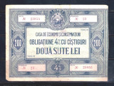 OBLIGATIUNE CEC 200 LEI - RPR
