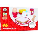 Set mic dejun din lemn PlayLearn Toys, Bigjigs
