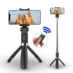Selfie Stick, Trepied, Suport pentru telefon, 3 in 1, Bluetooth, telecomanda detasabila