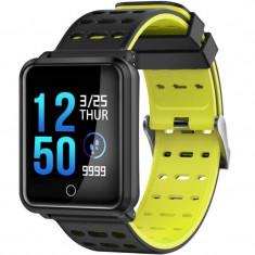 Bratara Fitness iUni M88 Plus, Display OLED, Bluetooth, Pedometru, Notificari, Android si iOS, Galben