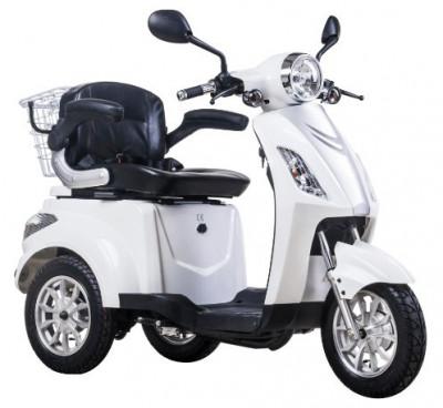 Tricicleta electrica, tip scuter, pentru agrement sau dizabili ZT-15-B TRILUX ALB foto