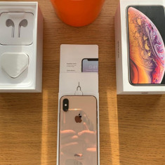Iphone xs 256GB Gold, NEVERLOCKED, CA NOU, in cutie cu GARANTIE 9 luni, Auriu, 5.8'', Apple