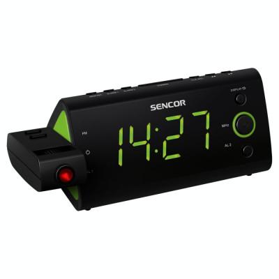 Radio cu ceas Sencor SRC 330 GN cu proiectie ceas Black / Green foto