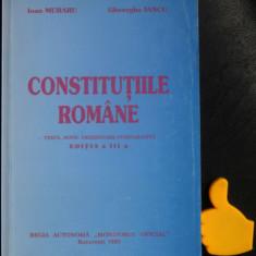 Constitutiile Romaniei Texte Note   Ioan Muraru Gheorghe Iancu