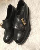 Pantofi piele naturala ASOS marimea 35, Negru, Cu toc
