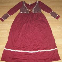 costum carnaval serbare cadana rochie medievala pentru adulti marime L