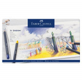 Creioane colorate 36 buc/set FABER-CASTELL Goldfaber, cutie metal