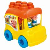 Baby Clemmy - Autobuz scolar, 10 cuburi, Clementoni
