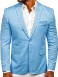 Sacou casual pentru bărbat albastru-deschis Bolf RBR152