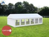 3X12 M CORT EVENIMENTE PROFESIONAL ECONOMY, PVC ignifug 500 g/m² ALB