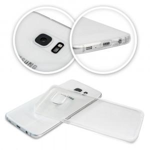 Husa SAMSUNG Galaxy S6 Edge Plus - Jelly Clear (Transparent) Anti-Ingalbenire