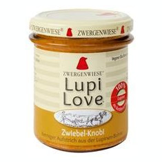 Crema Tratinabila din Lupin cu Ceapa si Usturoi Fara Gluten Bio Lupi Love 165gr Zwergenwiese Cod: 5100620