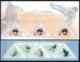 DB Fauna Pasari Rapitoare  Vulturi Guineea MS + SS  MNH, Nestampilat