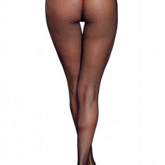 STK355-1 Ciorapi sexy din plasa cu ochiuri mici si fundita la spate