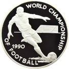 Jamaica 25 Dollars 1990 -(FIFA World Cup) Argint 23.33g/925, Aoc1 KM-142 UNC !!!