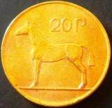 Moneda 20 PENCE - IRLANDA, anul 1992   *cod 4651