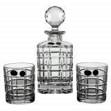Set 7 piese whisky Timesquare Cristal de Bohemia 24%PbO Cod Produs 2088