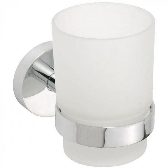 Pahar suport periuta de dinti sticla, Bemeta Omega, 104110012, 7x9.5x10.5 cm, suport inclus