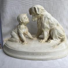 Figurina din ipsos fabricata in Suedia de renumitul producator GUSTAVSBERG