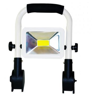 Proiector LED 10W 12V 220V cu Acumulator si Suport Reglabil BL401 foto