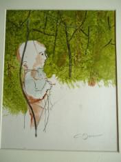 tablou Constantin Baciu - Micul vanator foto