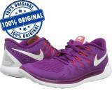 Pantofi sport Nike Free 5.0 pentru femei - adidasi originali - alergare, 36, 36.5, 37.5, Mov, Textil