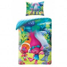 Lenjerie de pat pentru copii Trolls