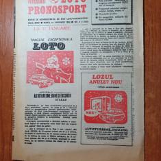 programul loto-pronosport 12 ianuarie 1988