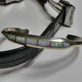 Bratara fixa din argint cu opal(10016)