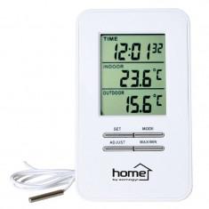 Statie meteo digitala, interior si exterior, ceas cu alarma inclus, Home