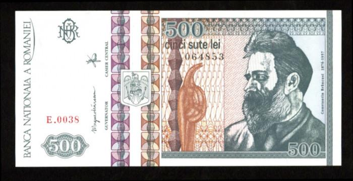 BANCNOTA 500 LEI 1992 FILIGRAN LATERAL UNC NECIRCULATA