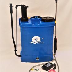 Pompa de stropit electrica si manuala DANUBE/ 2 in 1 / 20 litri -5.5 bari