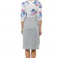 Rochie de vara cu buzunare si print floral