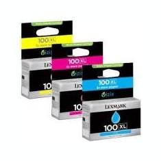 TriPack Cartus CMY Return Nr.100XL 14N0850 Original Lexmark Pro 205