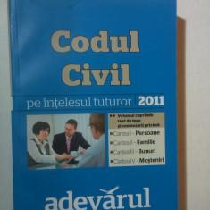 CODUL CIVIL PE INTELESUL TUTUROR 2011