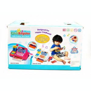 Casa de marcat de jucarie, cu microfon, scanner si accesorii - Cel mai frumos cadou pentru copii!