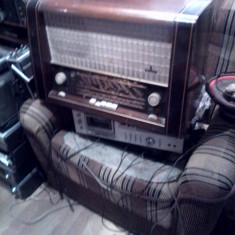 Aparat de radio pe lampi German Simens Gross Super 53 Type SH 953